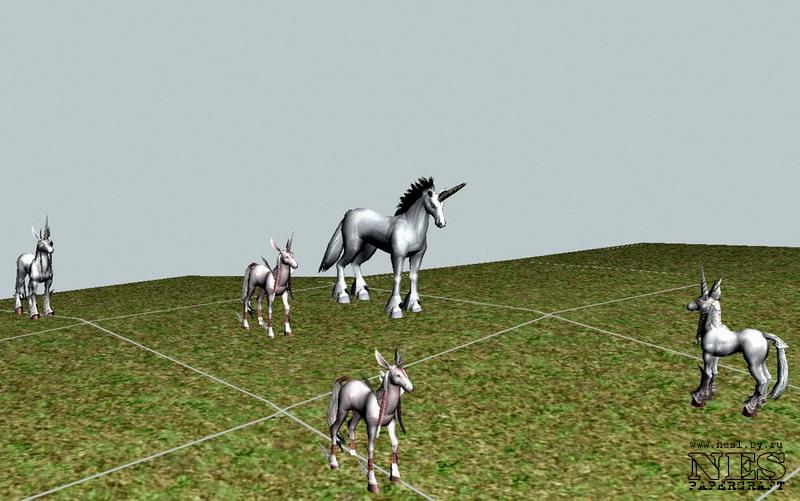 Бумажная модель: рейд-босс Unicorn =LineAge 2=
